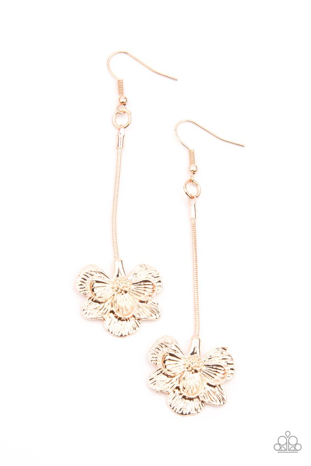 Opulently Orchid - Rose Gold - Paparazzi Earring Image