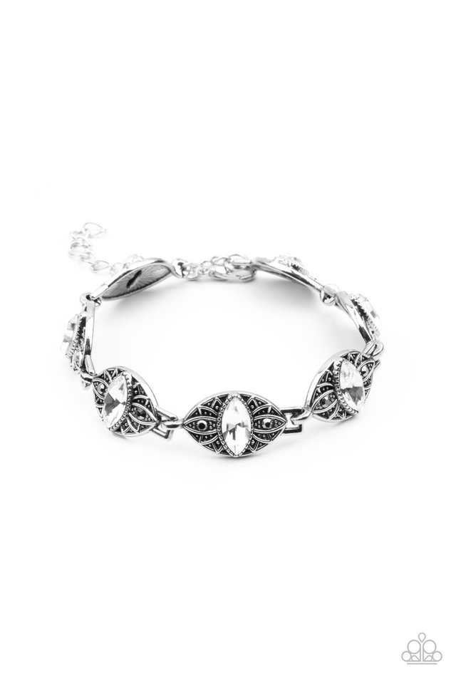 Crown Privilege - White - Paparazzi Bracelet Image