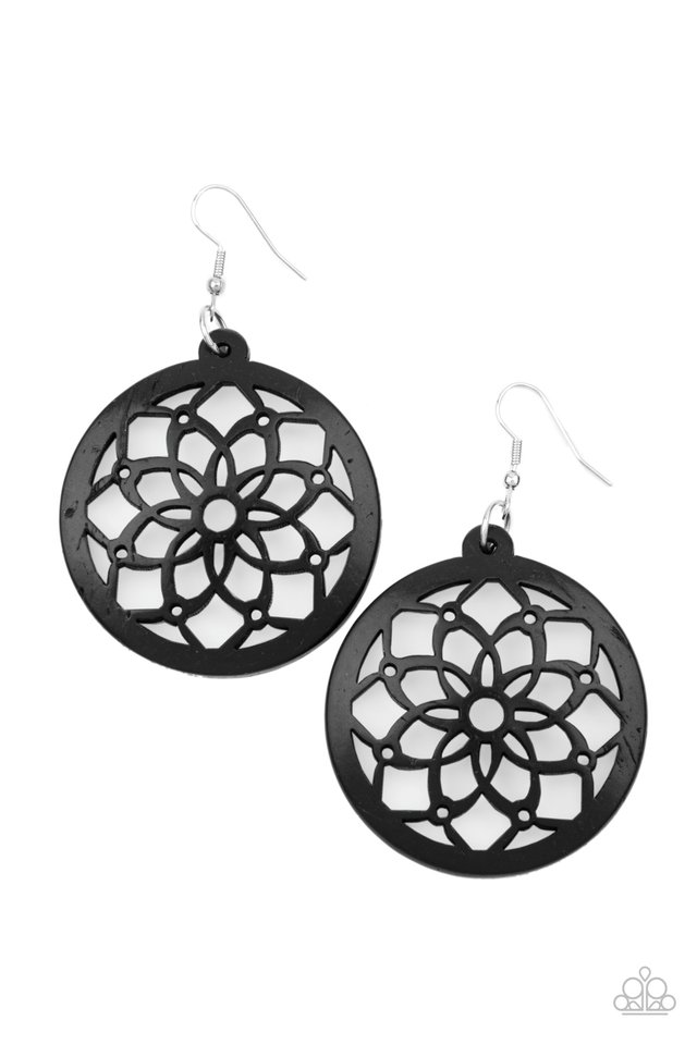 Mandala Meadow - Black - Paparazzi Earring Image