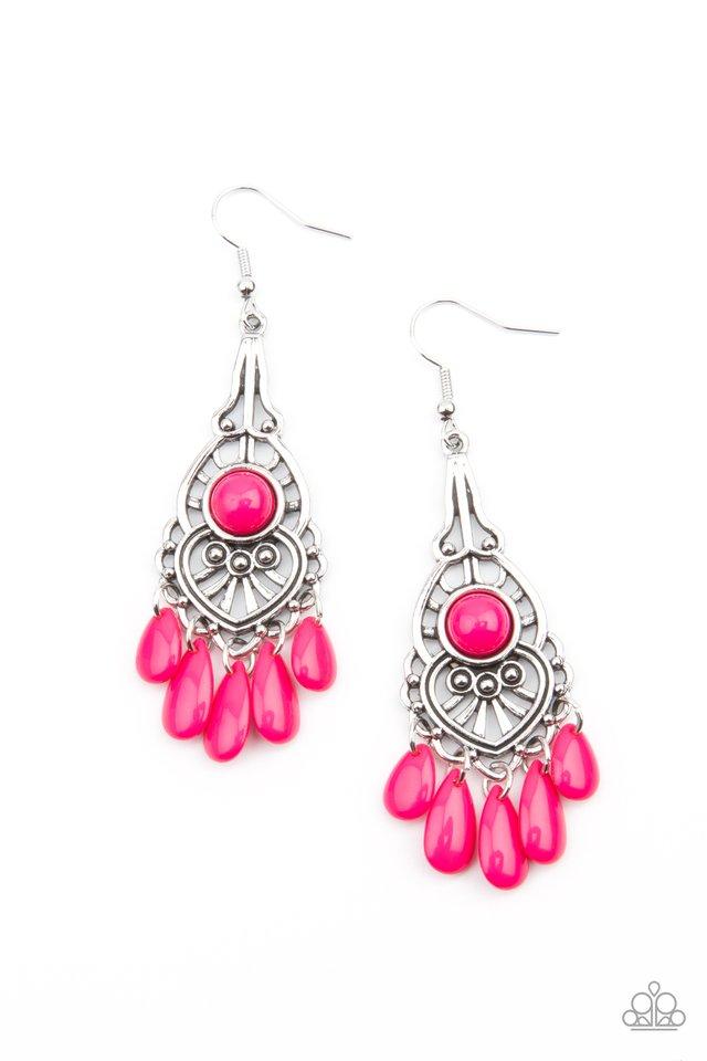 Fruity Tropics - Pink - Paparazzi Earring Image