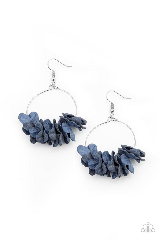 Flirty Florets - Blue - Paparazzi Earring Image