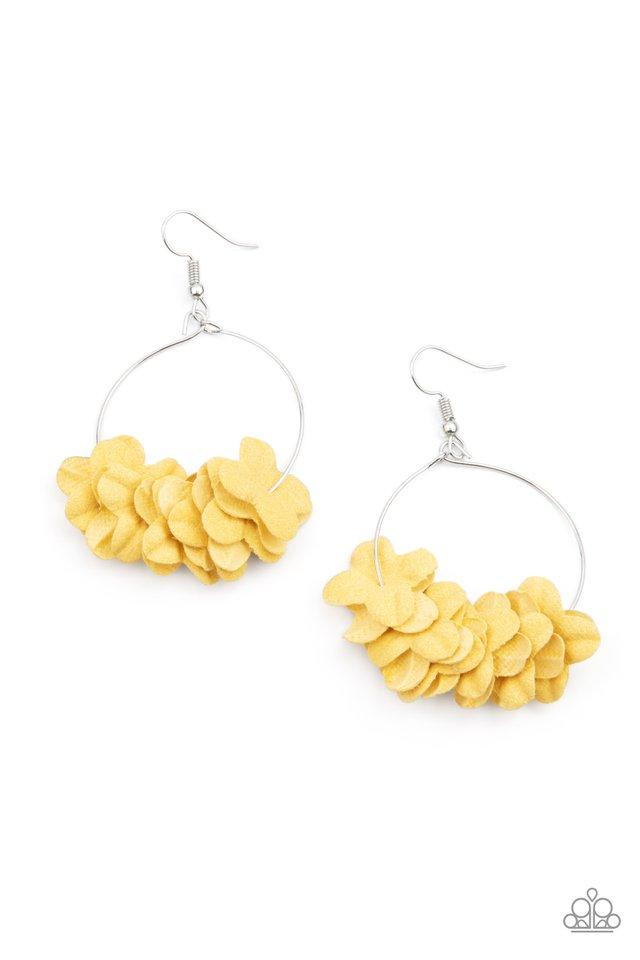Flirty Florets - Yellow - Paparazzi Earring Image