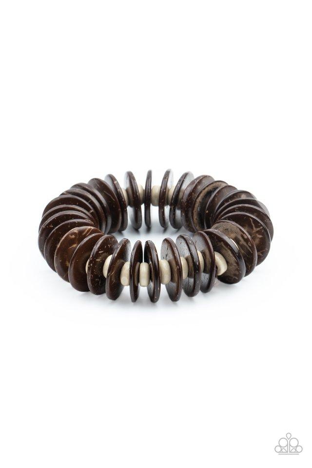 Caribbean Reefs - Brown - Paparazzi Bracelet Image
