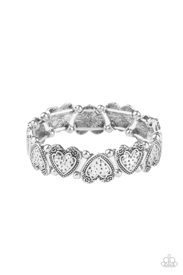 Rustic Heartthrob - Silver - Paparazzi Bracelet Image