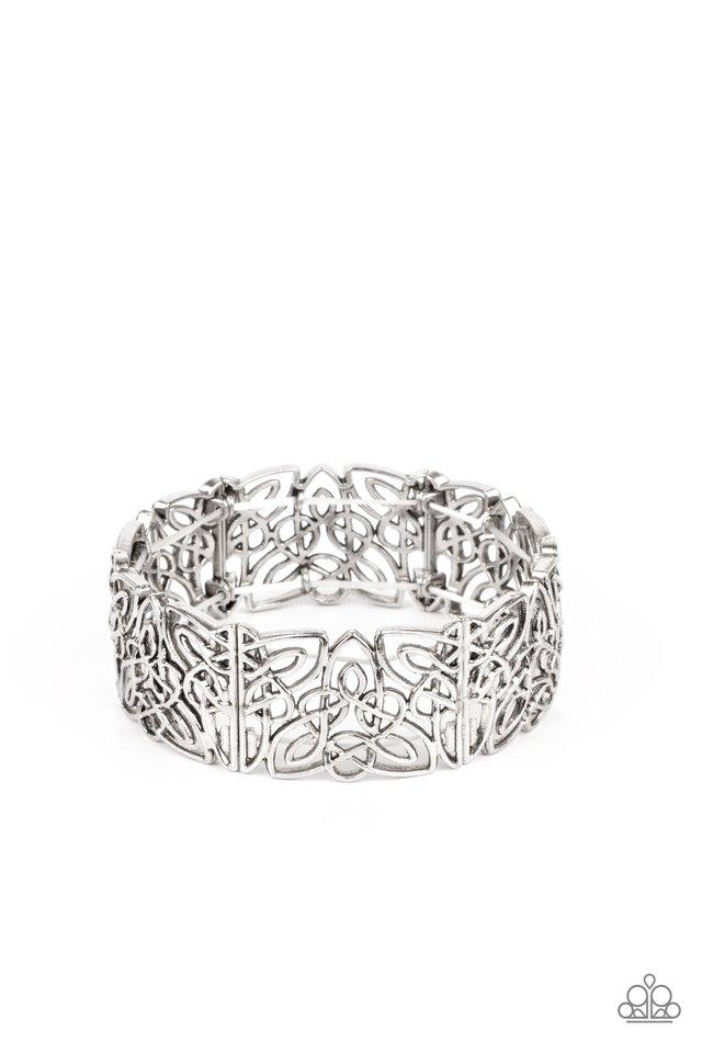 Namaste Gardens - Silver - Paparazzi Bracelet Image