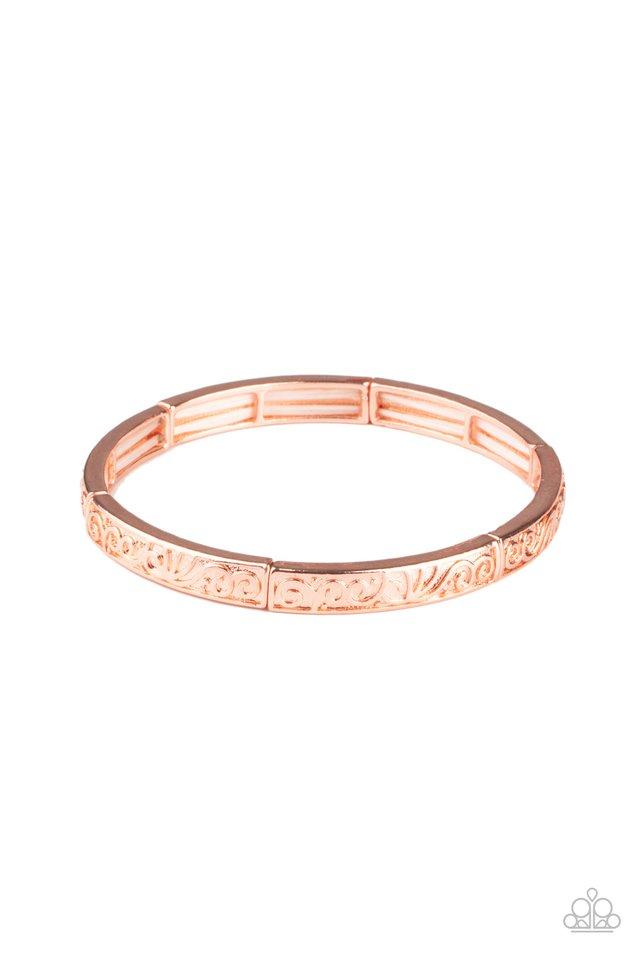 Precisely Petite - Copper - Paparazzi Bracelet Image