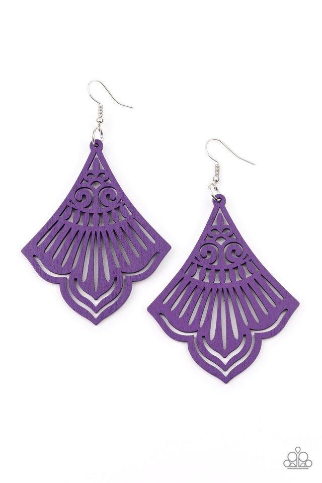 Eastern Escape - Purple - Paparazzi Earring Image