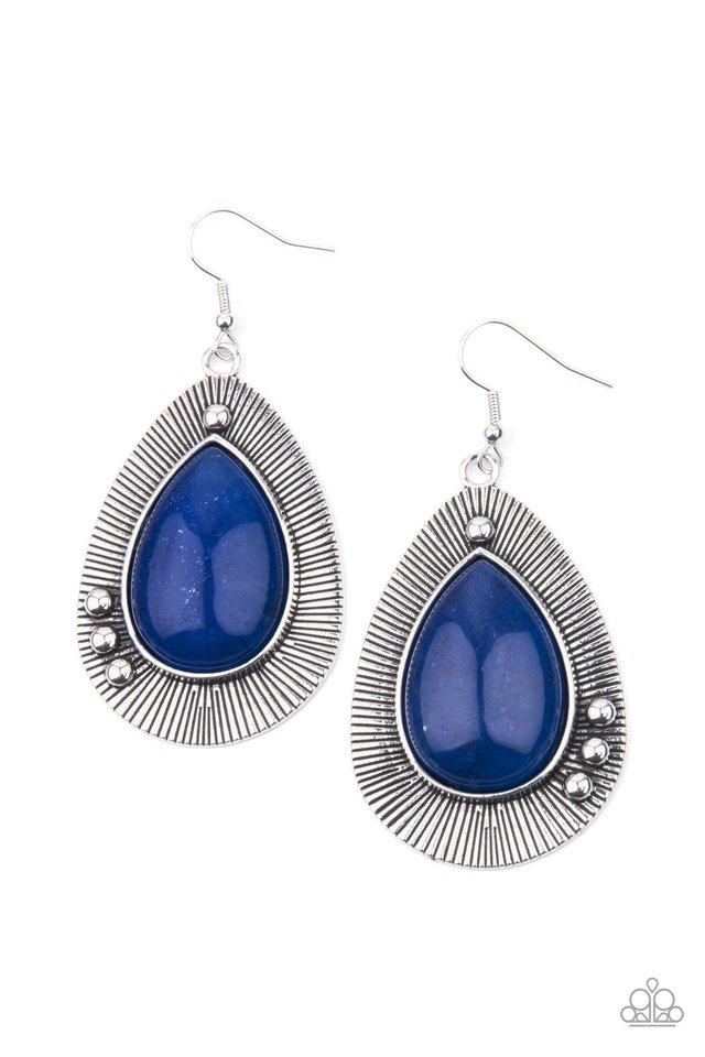 Western Fantasy - Blue - Paparazzi Earring Image