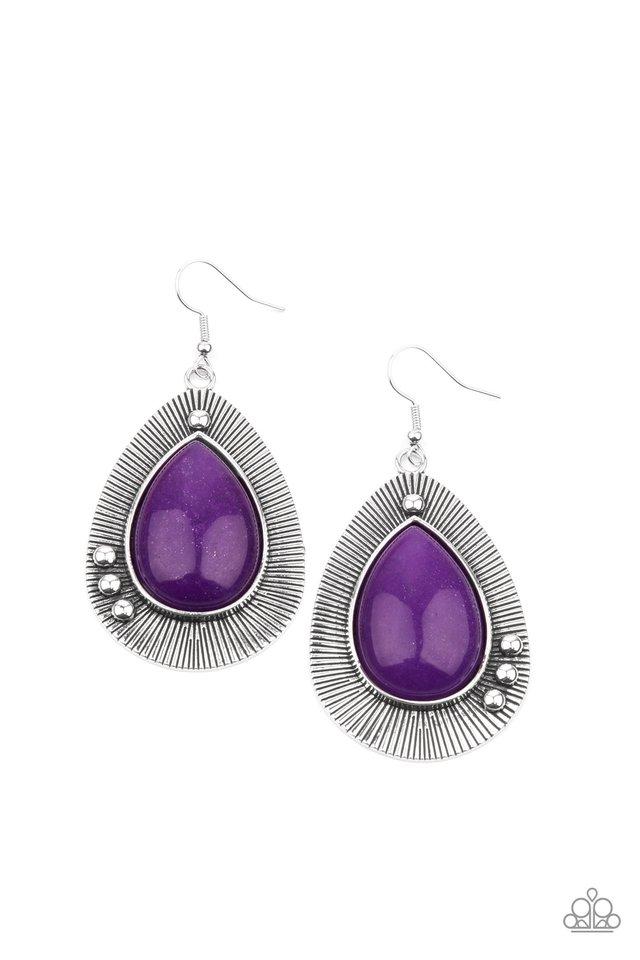 Western Fantasy - Purple - Paparazzi Earring Image