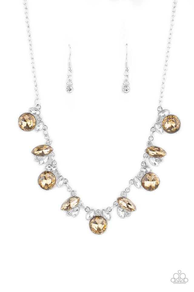 BLING to Attention - Brown - Paparazzi Necklace Image