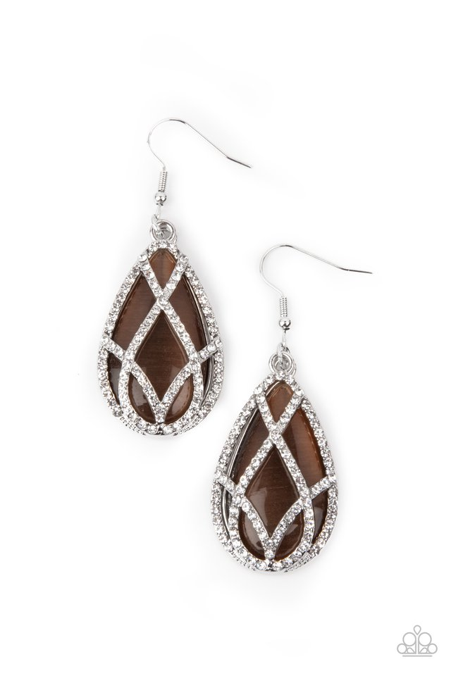 Crawling With Couture - Brown - Paparazzi Earring Image