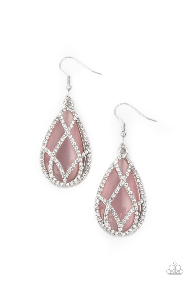 Crawling With Couture - Pink - Paparazzi Earring Image