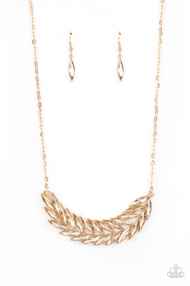 Flight of FANCINESS - Gold - Paparazzi Necklace Image