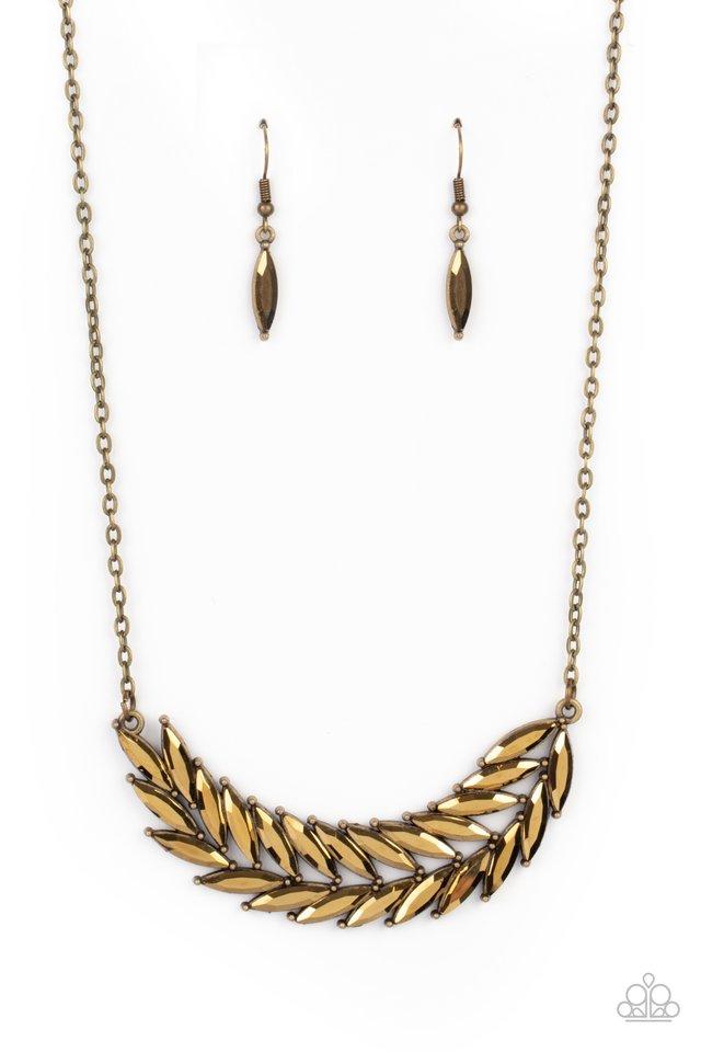 Flight of FANCINESS - Brass - Paparazzi Necklace Image