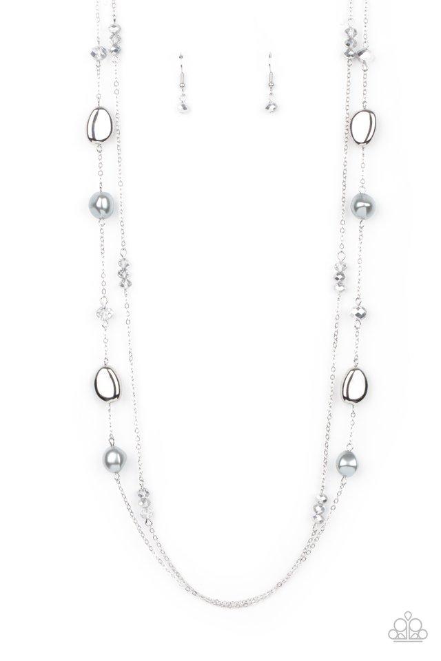 Gala Goals - Silver - Paparazzi Necklace Image