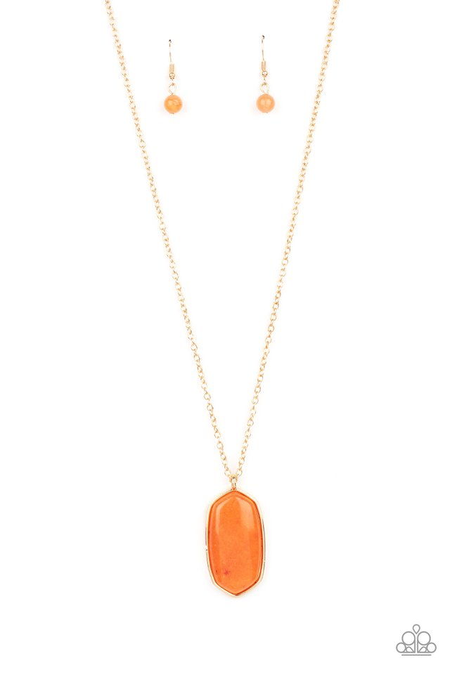 Elemental Elegance - Orange - Paparazzi Necklace Image
