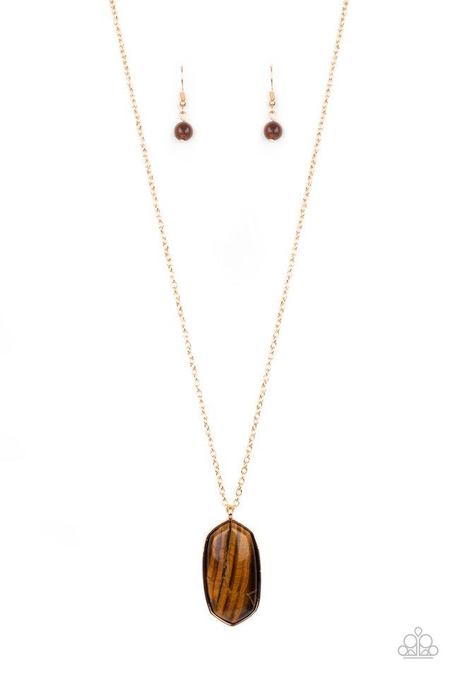 Elemental Elegance - Brown - Paparazzi Necklace Image