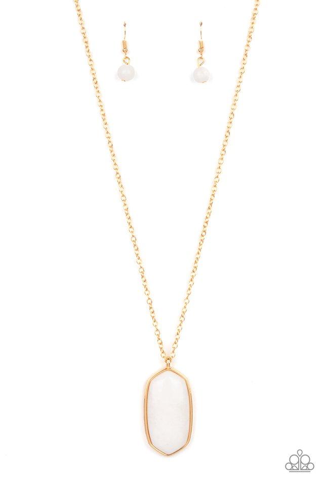 Elemental Elegance - White - Paparazzi Necklace Image