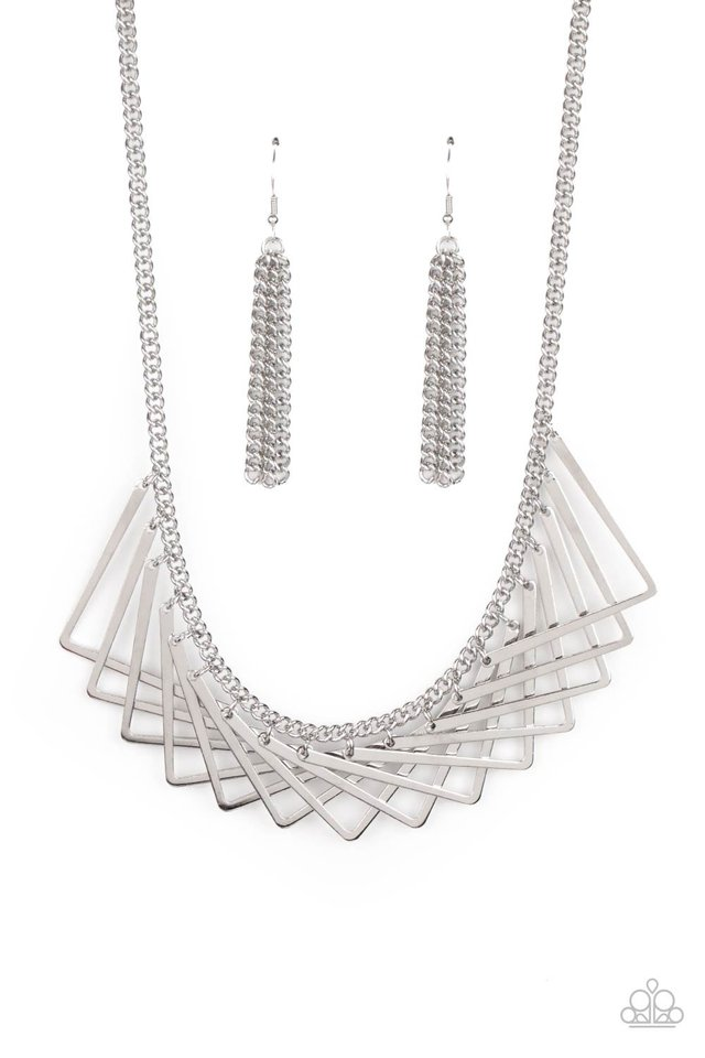 Metro Mirage - Silver - Paparazzi Necklace Image