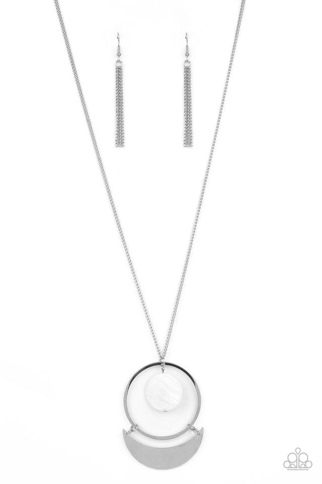 Moonlight Sailing - White - Paparazzi Necklace Image