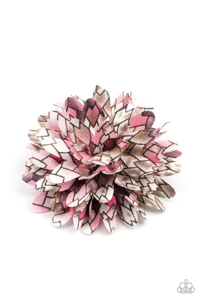 Vanguard Gardens - Pink - Paparazzi Hair Accessories Image
