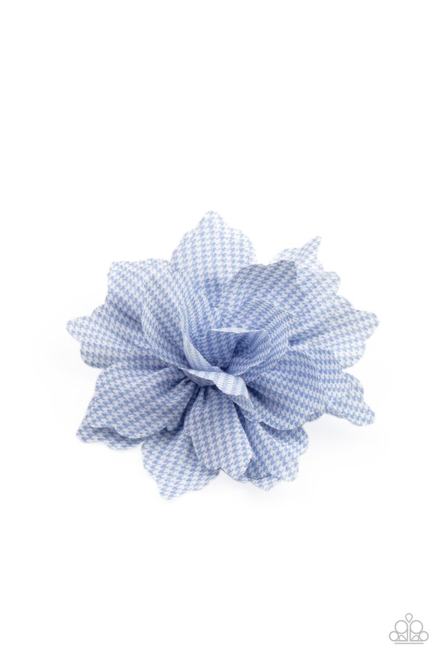 Plaid Prairies - Blue - Paparazzi Hair Accessories Image