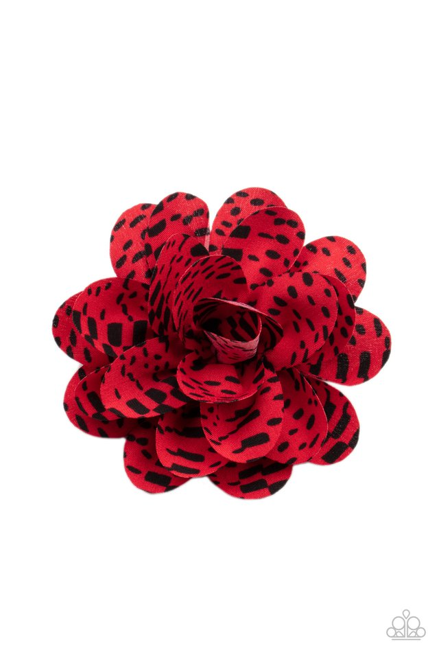 Patterned Paradise - Red - Paparazzi Hair Accessories Image
