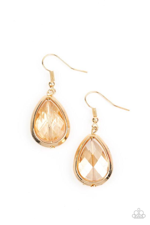 Drop-Dead Duchess - Gold - Paparazzi Earring Image