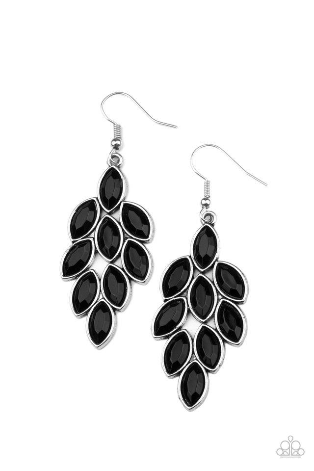 Flamboyant Foliage - Black - Paparazzi Earring Image