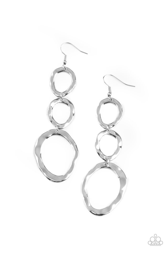 So OVAL It! - Silver - Paparazzi Earring Image