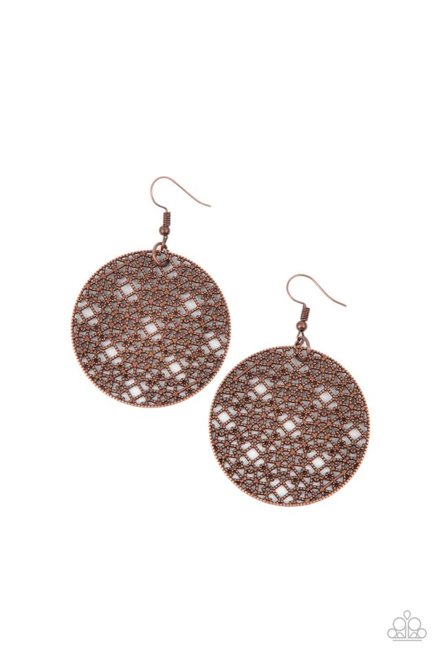 Metallic Mosaic - Copper - Paparazzi Earring Image