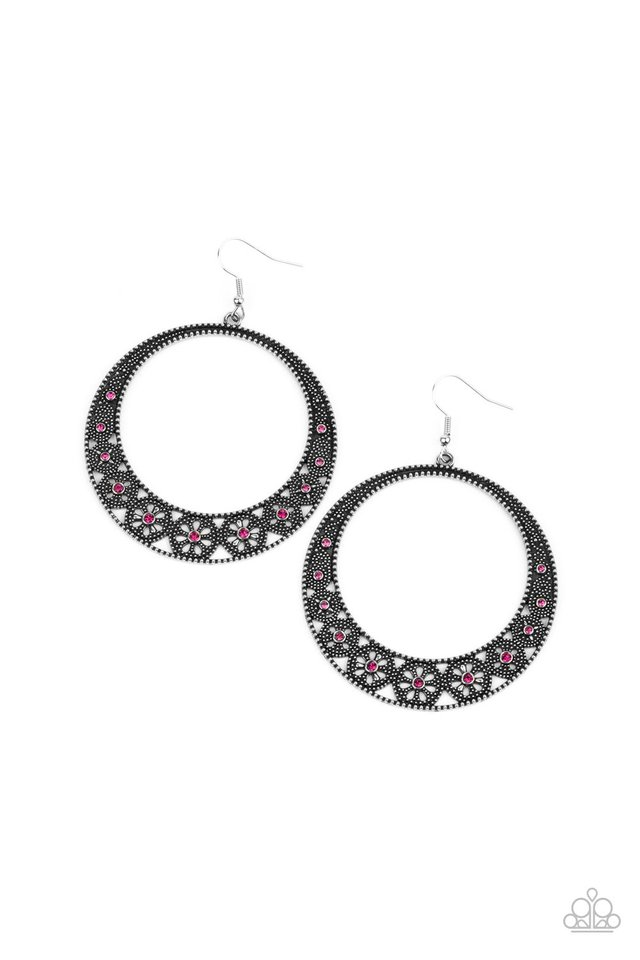 Bodaciously Blooming - Pink - Paparazzi Earring Image