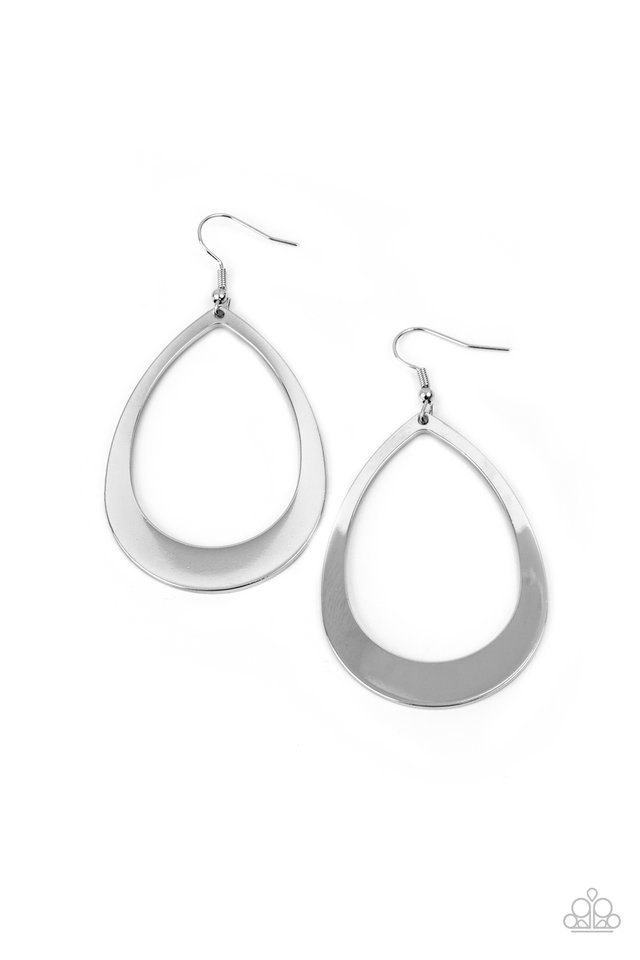 Fierce Fundamentals - Silver - Paparazzi Earring Image