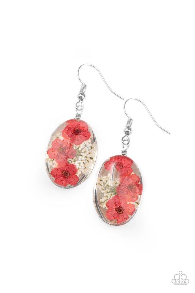 Encased Enchantment - Pink - Paparazzi Earring Image