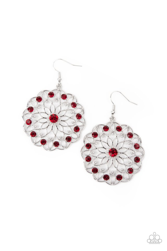 Posy Proposal - Red - Paparazzi Earring Image