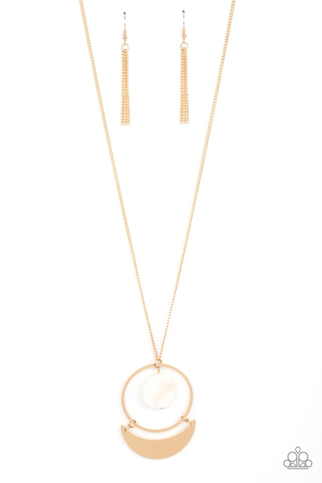 Moonlight Sailing - Gold - Paparazzi Necklace Image