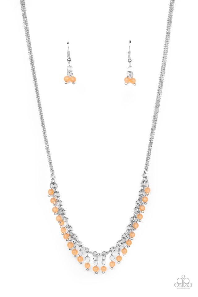 DEW a Double Take - Orange - Paparazzi Necklace Image