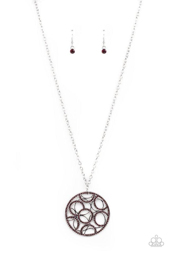 Thanks A MEDALLION - Purple - Paparazzi Necklace Image