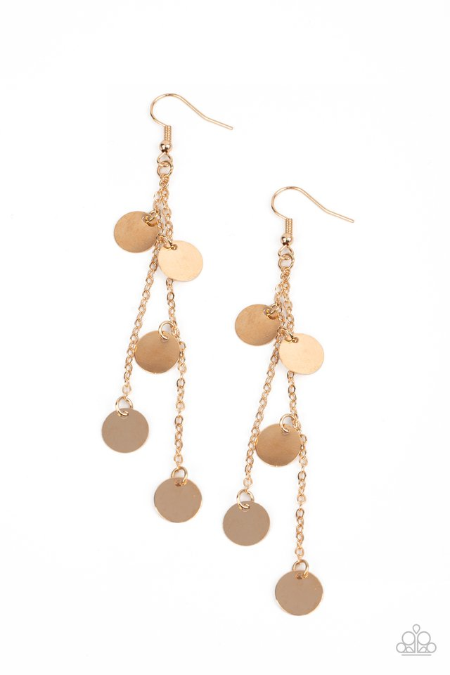 Take A Good Look - Gold - Paparazzi Earring Image