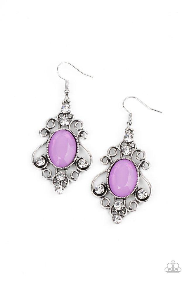 Tour de Fairytale - Purple - Paparazzi Earring Image