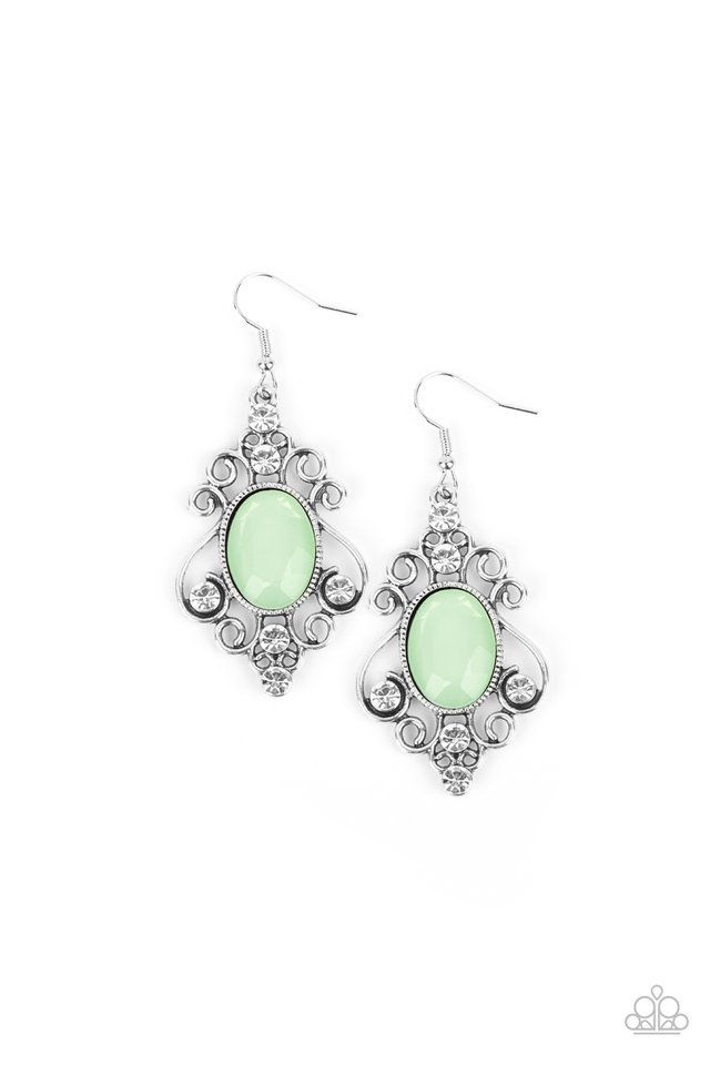 Tour de Fairytale - Green - Paparazzi Earring Image