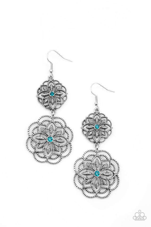 Mandala Mecca - Blue - Paparazzi Earring Image
