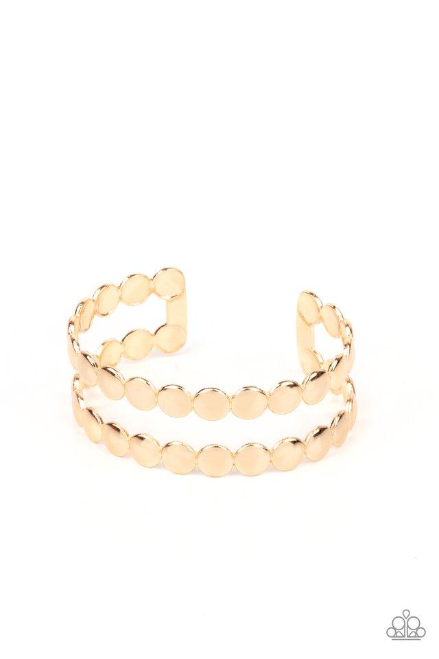 On The Spot Shimmer - Gold - Paparazzi Bracelet Image