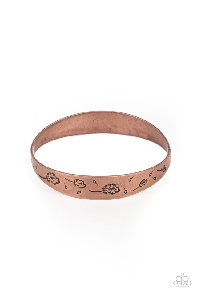 Dandelion Dreamland - Copper - Paparazzi Bracelet Image