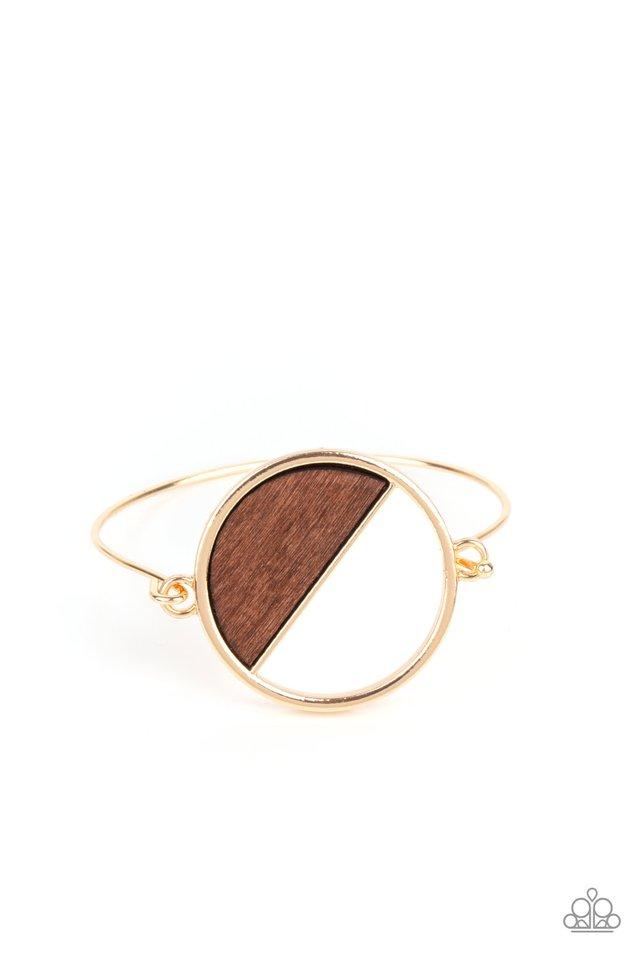 Timber Trade - Gold - Paparazzi Bracelet Image