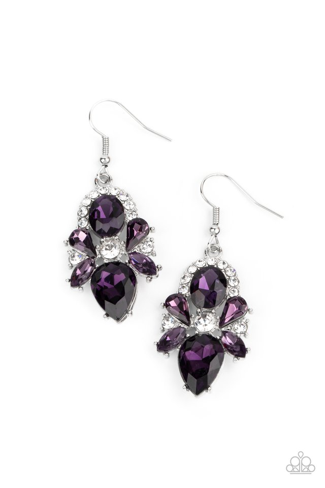 Stunning Starlet - Purple - Paparazzi Earring Image