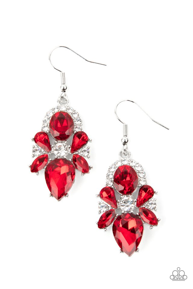 Stunning Starlet - Red - Paparazzi Earring Image