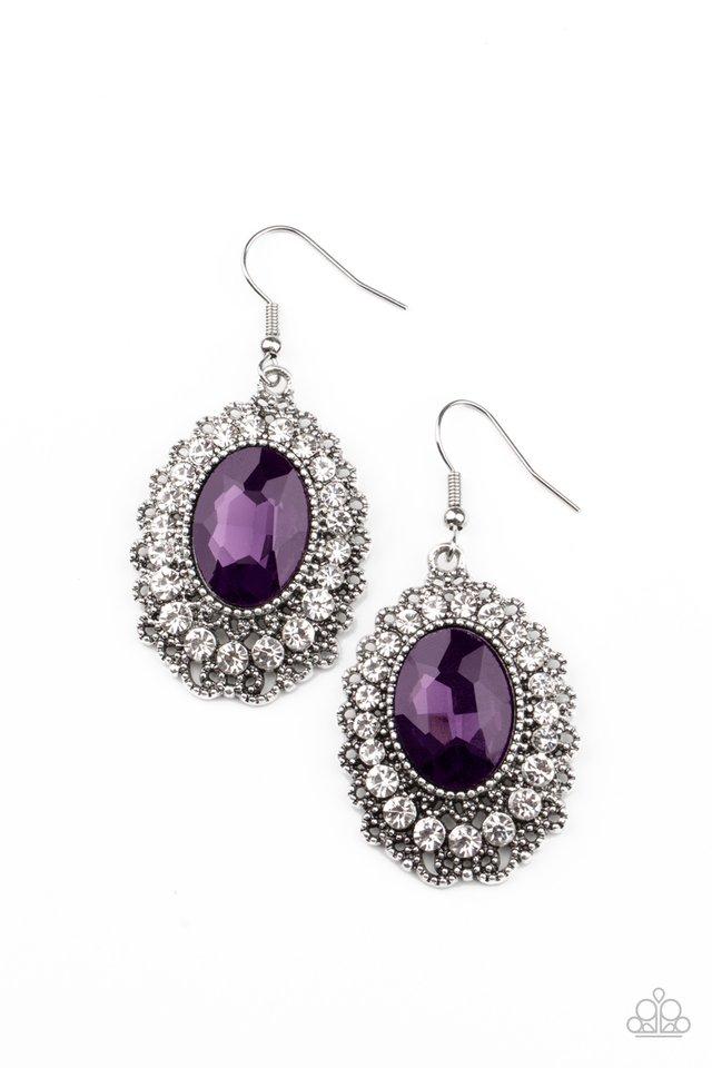 Glacial Gardens - Purple - Paparazzi Earring Image