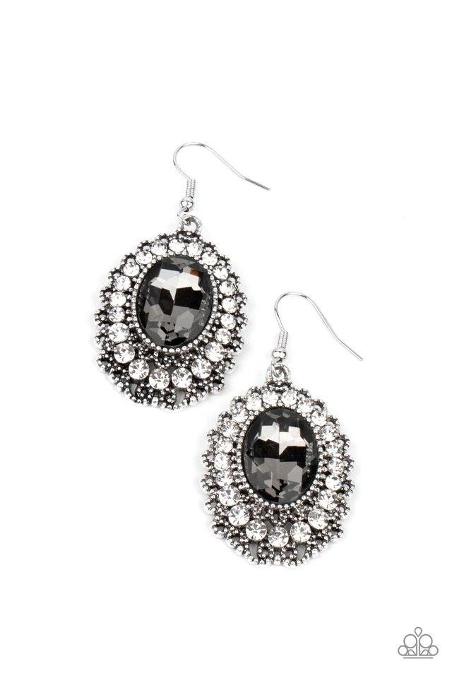 Glacial Gardens - Silver - Paparazzi Earring Image
