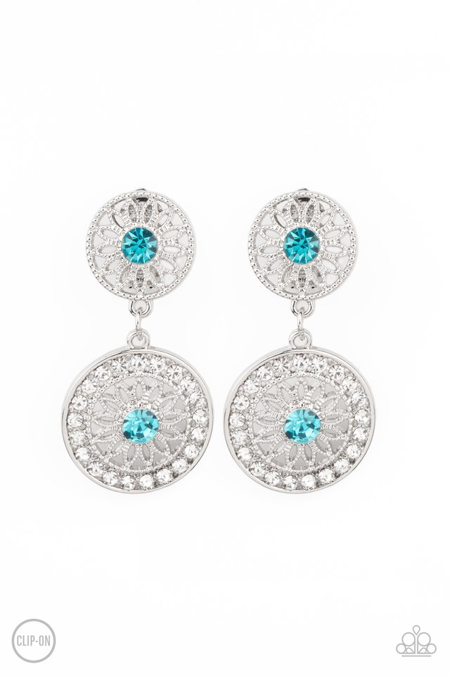 Life of The Garden Party - Blue - Paparazzi Earring Image